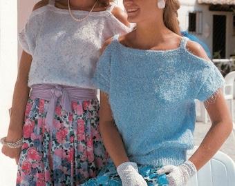 "Emu 2205 Vintage Womens Knitting Pattern DK or Chunky 32-40/"""