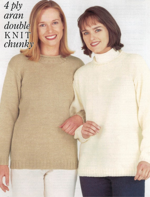 "Wendy 4 Ply DK Aran Chunky Knitting Pattern ladies Cardigan Size 32//46/"" Chest"