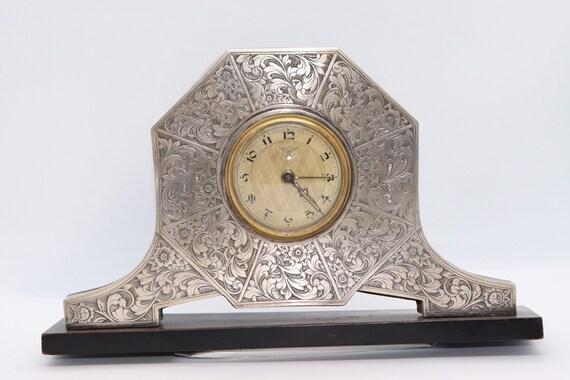 Art Deco Mercedes table clock with mercedes adler symbol (rare)