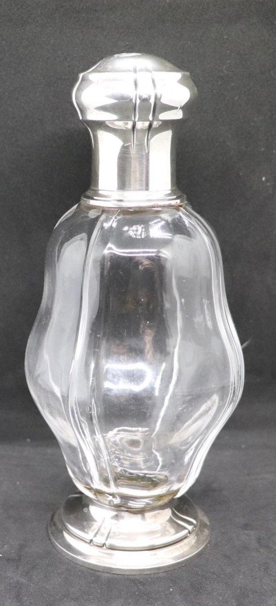 Fine Art-Nouveau Silver Crystal Carafe by Piault-Linzeler