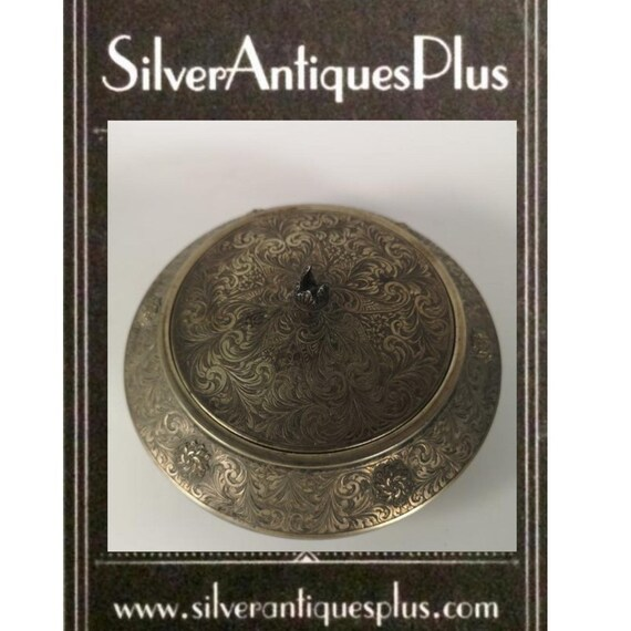 Antique Silver Powder Compact