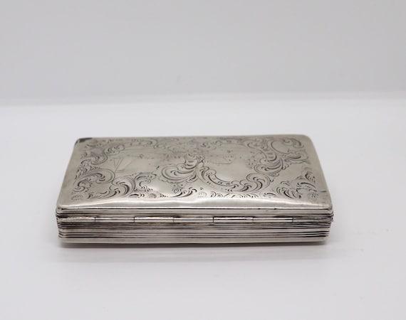 1860 Dutch Silver Tobacco Tin