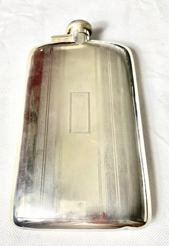 Sterling Silver Hip flask 1950s