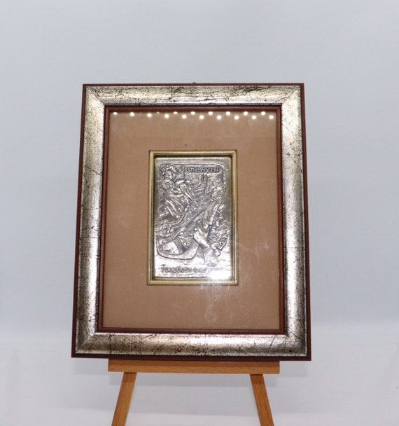 Limited edition (No.2+36) Jane Avril low relief copy from Toulouse Lautrec, on silver 925. Florence (Italy)