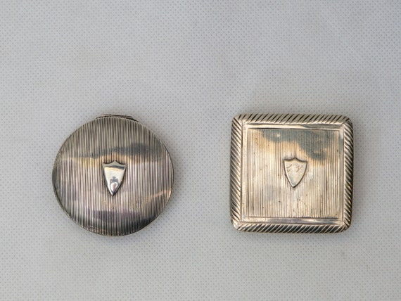 Matching Silver Pill Boxes