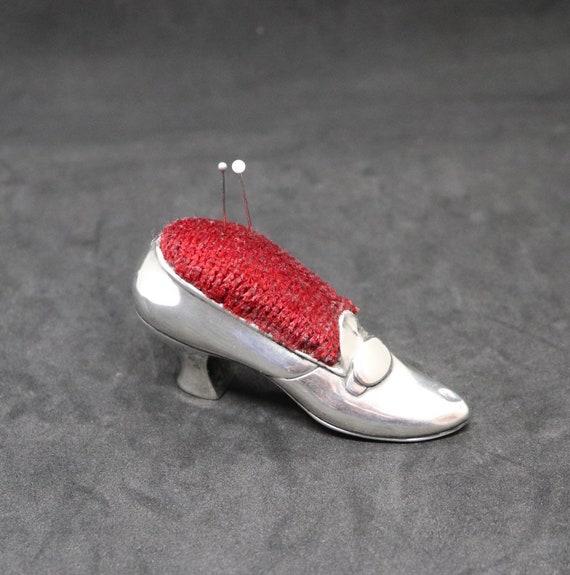 Antique 1910 Gorham Sterling silver shoe pincushion