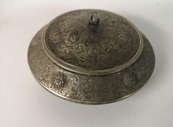 Antique Silver Powder Compact