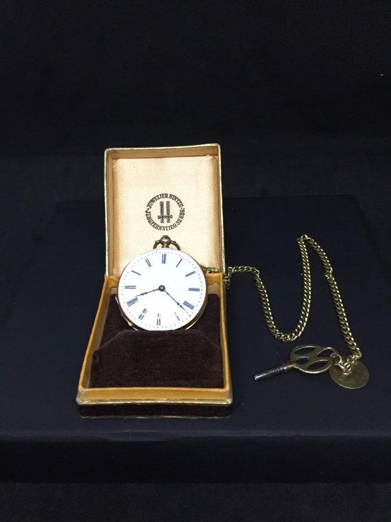 18 K Gold ladies Pocketwatch