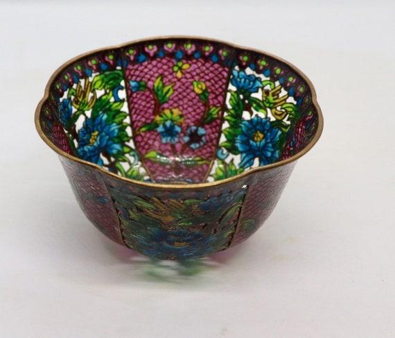 Plique a jour Cloisonné bowl