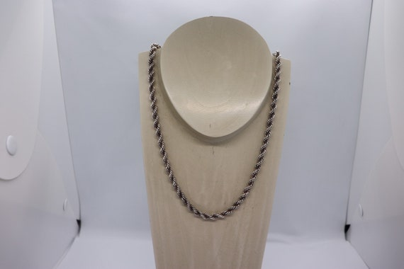 Silver Rope chain 60cm 69 grams