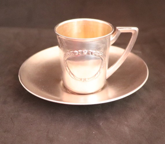 Russian Silver Cup and Saucer