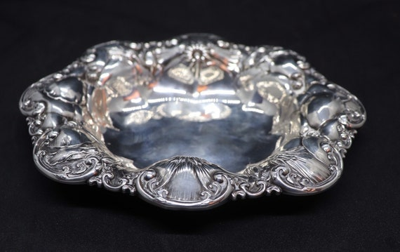 Beautiful Presentation Tray with floral barock relief