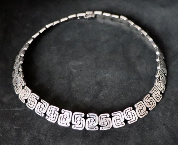Vintage Sterling Silver Mayan necklace