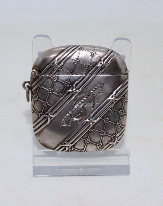 Art Nouveau Silver Matchbox