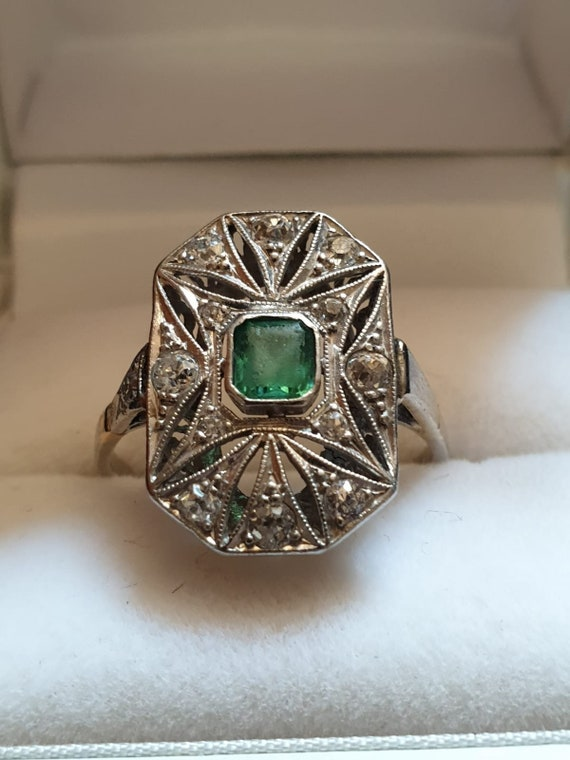 Art Deco Platinum Ring 1918