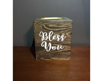 Tissue Box Cover - Bless You
