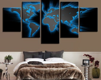 Light blue world map etsy popular items for light blue world map gumiabroncs Images