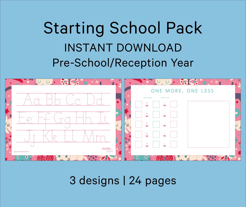 Starting School Pack Preschool Reception EYFS Learn To | Etsy
