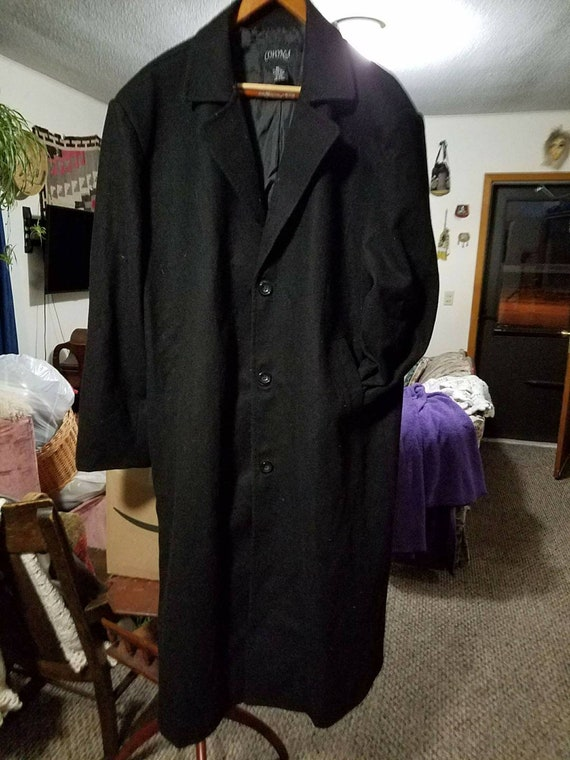 Men's wool coat. Detailed Men's Trench coat. Wool.