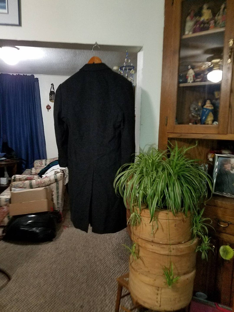 UNGARO fashion designer in Paris Very well made Business coat Vintage Men/'s Wool Trench Coat Handmade by Mr O/'s for David Smith