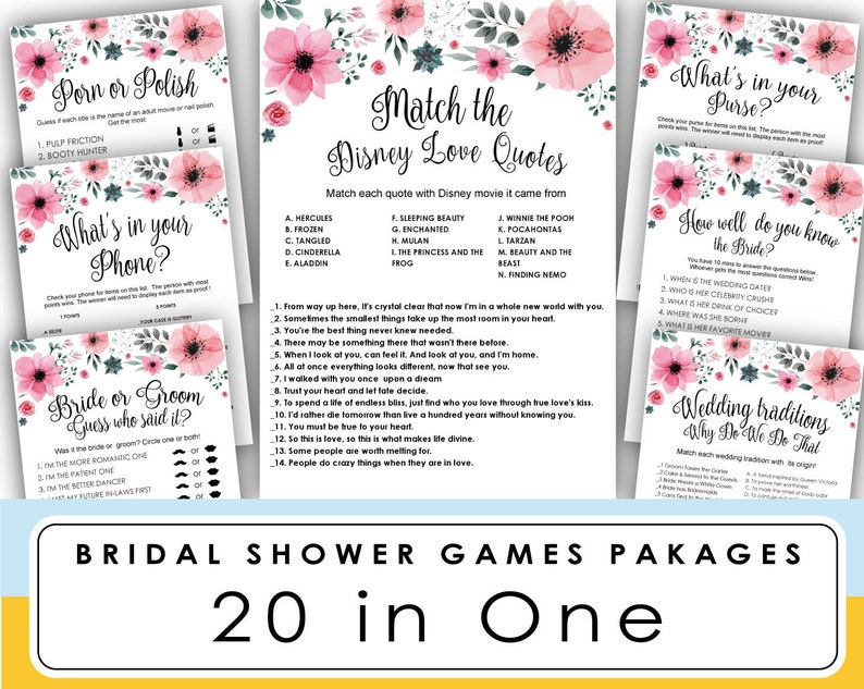 picture about Guess the Disney Movie Song Printable named Bridal Shower Online games Printable . Bridal Shower Online games Disney enjoy tune . Passionate motion pictures matching trivia . Wedding ceremony Shower online games Disney