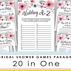 Bridal Shower Game Printable Over Or Under Games Wedding Etsy