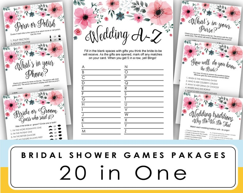 photo regarding Printable Wedding Shower Games named bridal shower video game printable, Wedding day A-Z online games, marriage shower game titles, Bachelorette Celebration, bridal shower activity printable