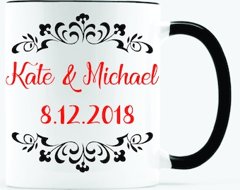 Custom Mug, Personal Mug, Mug, Wedding Gift Mug, Wedding Mug, Coffee Mug, Tea Mug, Mug With Name, Mug With Photo, Personalize Mug, Gift Mug