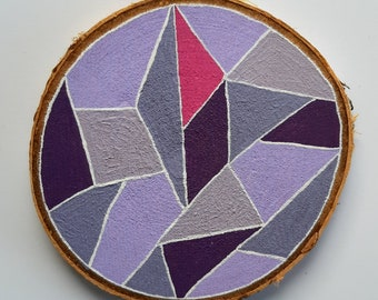 Coasters hand-painted limited to real wood