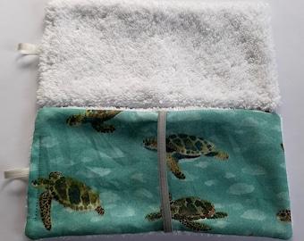 Set of 2 washcloths travel size