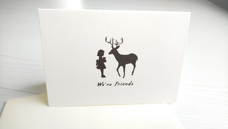 We are friends card ~ Custom Personalized Handwritten Calligraphy Card ~ Gift Ideas ~ Friend letter  ~ Blessing Card