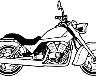 Motorcycle in SVG / Eps / Dxf / Jpg files INSTANT DOWNLOAD!