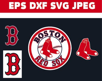 Boston Red Sox in SVG / Eps / Dxf / Jpg files INSTANT DOWNLOAD!