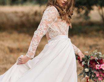 Wedding dress,beach wedding dress,boho wedding dress,hippie wedding dress,rustic wedding dress,simple wedding dress, indie wedding dress....