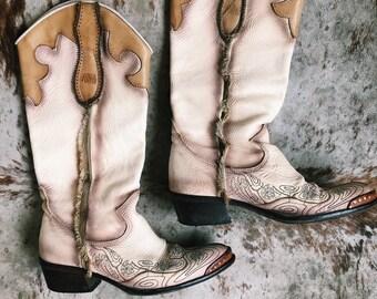 Vintage Italian Cowboy Boots