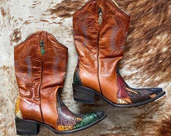 Vintage Snakeskin Cowboy Boots