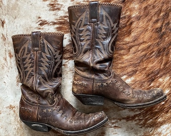 Vintage Rugged Cowboy Boots