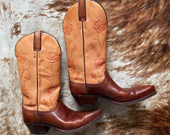 Vintage Tony Mora Cowboy Boots