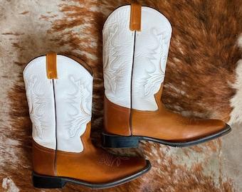 Vintage Leather Cowboy Boots