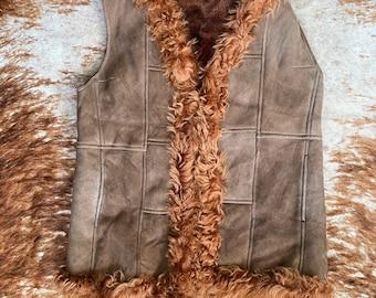 Vintage Shearling Vest
