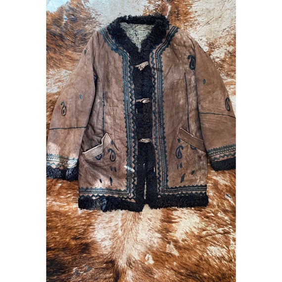 Vintage 70s Afghan Coat / Hippie Coat / 70s Style