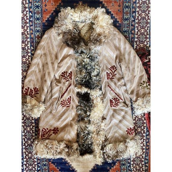 Vintage 70s Afghan Coat / Hippie Coat / Suede Leat