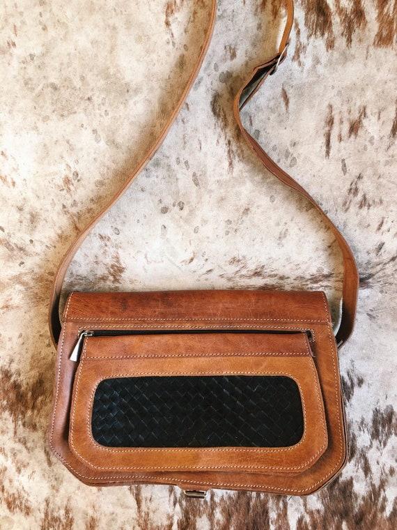 80cda6919e2 Brown Leather Purse   Boho Leather Crossbody   Western Handbag   Etsy