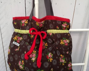 Flowerly charming vintage shopping bag
