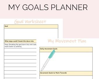 Chronic illness goal planning kit, fibromyalgia goals planner