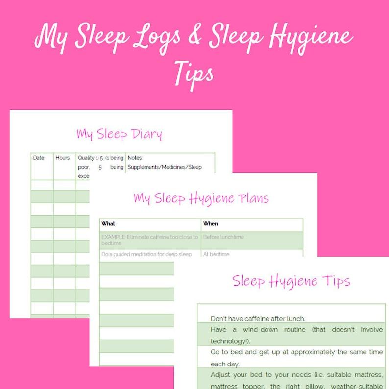 Sleep Diary Sleep Tracker Fibromyalgia Sleep Diary Sleep image 0