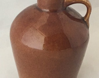 Vintage Roycroft Little Brown Jug, Antique Brown
