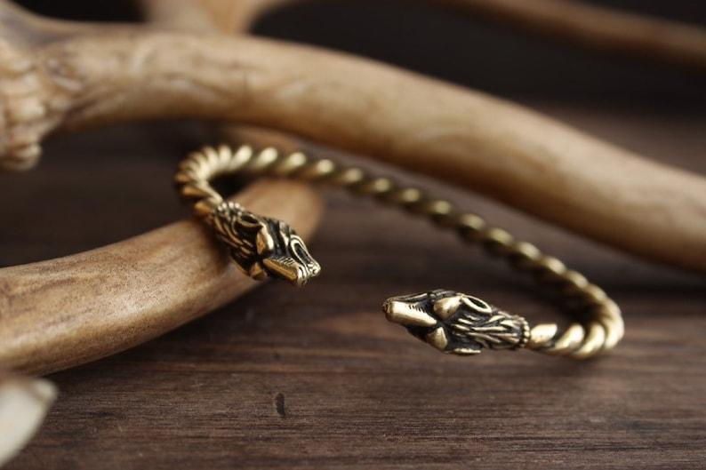 Viking bracelet Braided bronze \u201cFenrir\u201d  Bronze Massive ROLLO