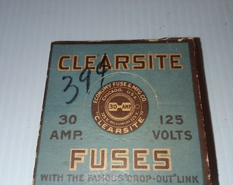 vintage clearsite plug fuses - 30 amp - 120 volt (never used and in the box)