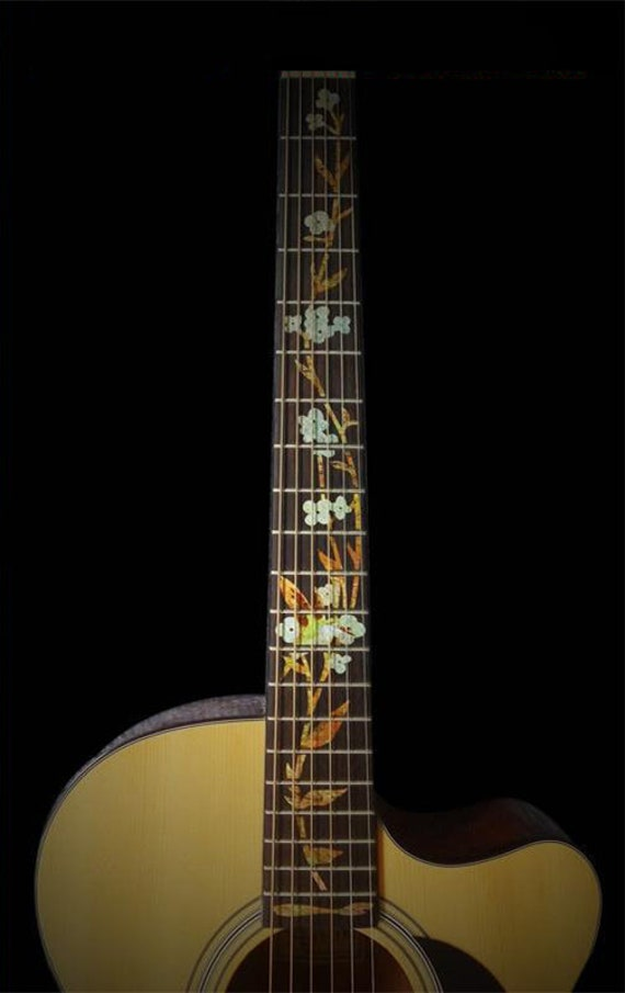 Elegant Flowers Guitar Stickers Guitar Fingerboard Decals Etsy